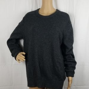 Banana Republic gray merino wool crewneck sweater